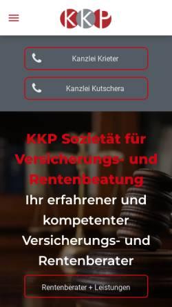 Vorschau der mobilen Webseite www.kanzlei-nrw.de, Kanzlei NRW Kutschera & Krieter