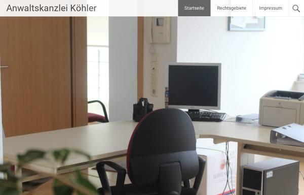 Vorschau von www.anwaltskanzlei-koehler-weissenfels.de, Kanzlei Köhler