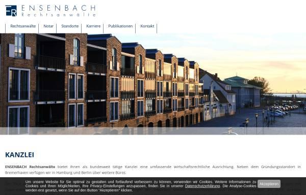Vorschau von ensenbach.de, Ensenbach Rechtsanwälte