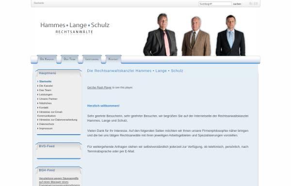 Vorschau von www.hammes-kanzlei.de, Hammes - Lange - Euba - Schulz