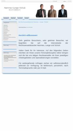 Vorschau der mobilen Webseite www.hammes-kanzlei.de, Hammes - Lange - Euba - Schulz