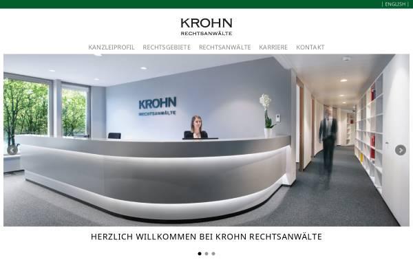 Vorschau von www.krohnlegal.de, Krohn Rechtsanwälte