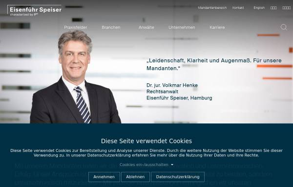 Vorschau von www.eisenfuhr.com, Eisenführ, Speiser & Partner