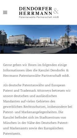 Vorschau der mobilen Webseite www.patent.de, Patentanwälte Wächtershäuser & Hartz