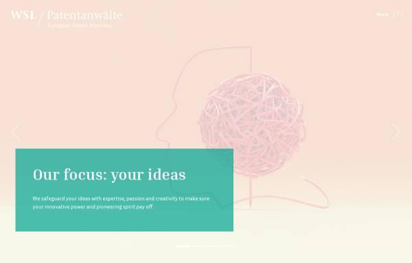 Vorschau von www.wsl-patent.de, Weber, Seiffert, Lieke