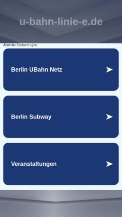 Vorschau der mobilen Webseite www.u-bahn-linie-e.de, Der Berliner Nahverkehr