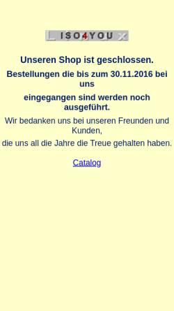 Vorschau der mobilen Webseite www.iso4you.de, ISO4you, Tanja Radegast