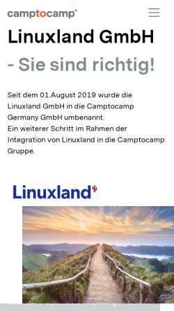 Vorschau der mobilen Webseite www.linuxland.de, LinuxLand International GmbH