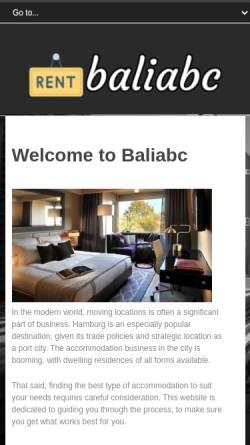 Vorschau der mobilen Webseite www.balimotorrad.de, Bali Biker Reisen und Motorrad Touren