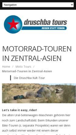 Vorschau der mobilen Webseite www.druschba.ch, Druschba Tours