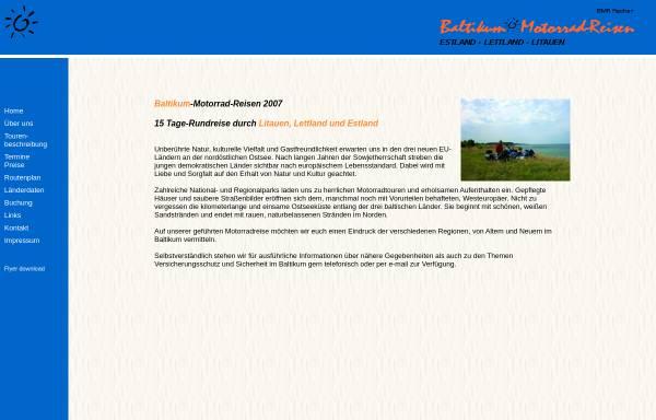 Vorschau von www.baltikum-motorrad-reisen.de, BMR Fischer & Scheinhütte GbR