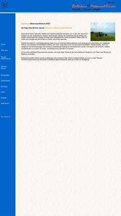 Vorschau der mobilen Webseite www.baltikum-motorrad-reisen.de, BMR Fischer & Scheinhütte GbR