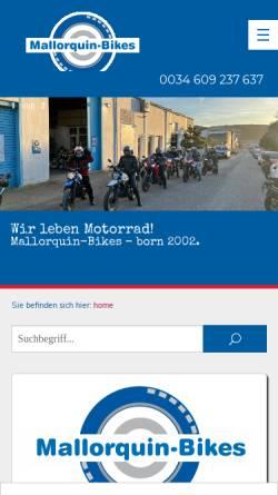 Vorschau der mobilen Webseite www.mallorquin-bikes.de, Mallorquin-Bikes