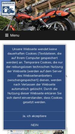 Vorschau der mobilen Webseite www.mein-tourenhotel.de, Mein-Tourenhotel.de
