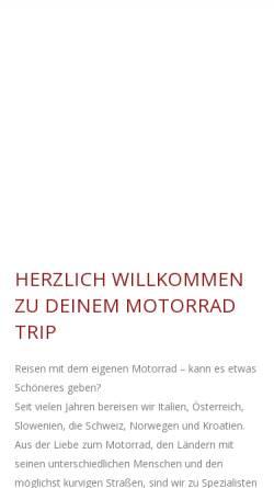 Vorschau der mobilen Webseite www.motorrad-trip.de, Motorrad-Trip