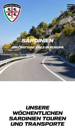 Vorschau der mobilen Webseite www.sarda-moto-tours.de, Sarda Moto Tours