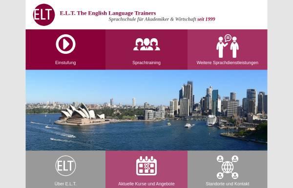 Vorschau von www.elt-co.com, E.L.T. The English Language Trainers GmbH