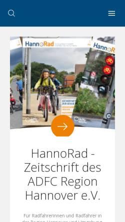 Vorschau der mobilen Webseite www.hannorad.de, HannoRad