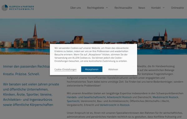 Vorschau von www.ra-klopsch.de, Klopsch Ronald