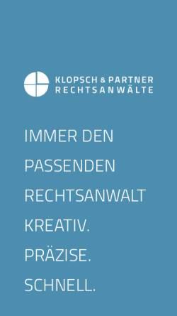Vorschau der mobilen Webseite www.ra-klopsch.de, Klopsch Ronald