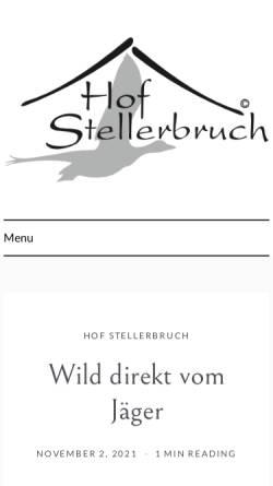 Vorschau der mobilen Webseite www.stellerbruch.de, Ferienwohnungen Stellerbruch, Familie Mattfeldt