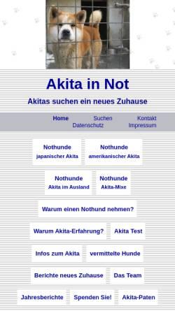 Vorschau der mobilen Webseite www.akita-in-not.de, Akita in Not