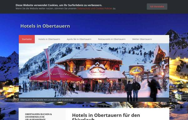 Vorschau von www.obertauern-hotel.de, Gruber Hotels und Aprés-Ski-Angebote