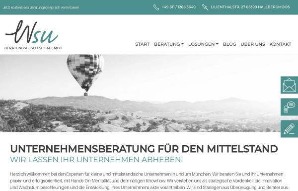 Vorschau von www.wsu-beratung.de, A47-consulting - Stefan Dörr, Ulfried Klebl, Brigitte Winkler