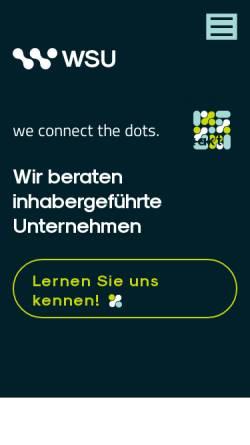 Vorschau der mobilen Webseite www.wsu-beratung.de, A47-consulting - Stefan Dörr, Ulfried Klebl, Brigitte Winkler