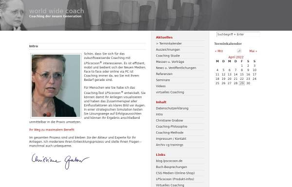 Vorschau von www.cg-trainings.de, CG-Trainings - Christiane Grabow