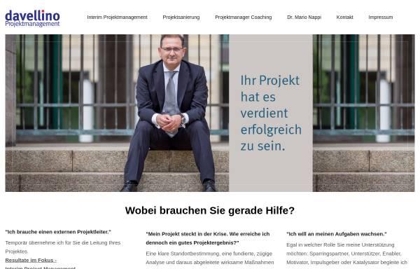 Vorschau von www.davellino.com, davellino consulting - Dr. Mario Nappi