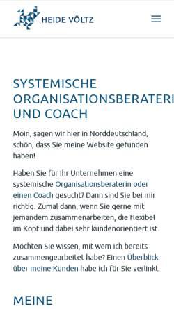 Vorschau der mobilen Webseite www.heidevoeltz.de, Dr. Heide Völtz