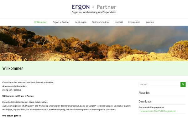 Vorschau von www.ergon-partner.de, Ergon + Partner Organisationsberatung und Supervision