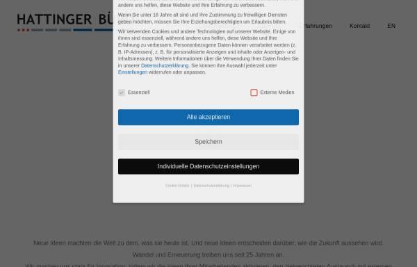 Vorschau von hattinger-buero.de, Hattinger Büro für Personal- und Organisationsentwicklung