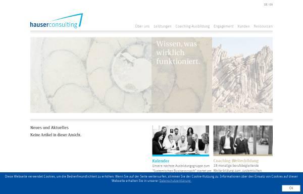 Vorschau von www.hauserconsulting.com, Hauserconsulting - Eberhard Hauser und Martin Hagen