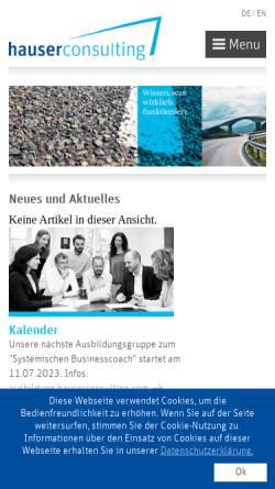 Vorschau der mobilen Webseite www.hauserconsulting.com, Hauserconsulting - Eberhard Hauser und Martin Hagen