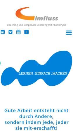 Vorschau der mobilen Webseite www.imfluss.de, Imfluss AG - Frank Pyko