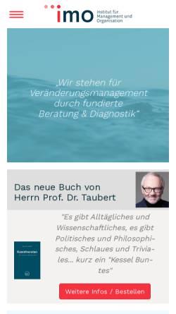 Vorschau der mobilen Webseite www.imo-bochum.de, IMO, Institut für Management und Organisation GmbH