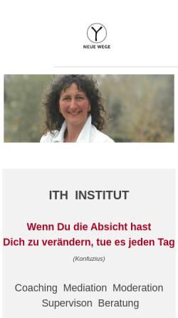 Vorschau der mobilen Webseite www.ressource-mensch.com, Institut für Unternehmensentwicklung und Wirtschaftsmediation Dipl.-Ing. Werner Tafel und Dipl.-Ing. Sabine Hoffmann
