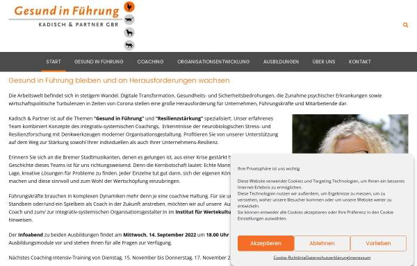 Vorschau von www.kadisch-und-partner.de, Kadisch und Partner - Coaching und Organisationsberatung