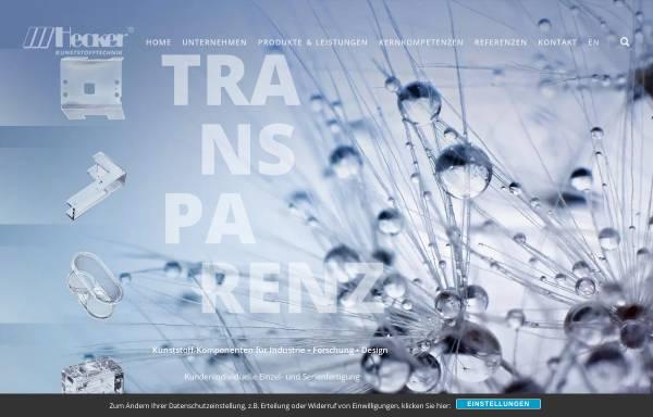 Vorschau von www.plexiglas-hecker.de, Hecker Kunststoffverarbeitung