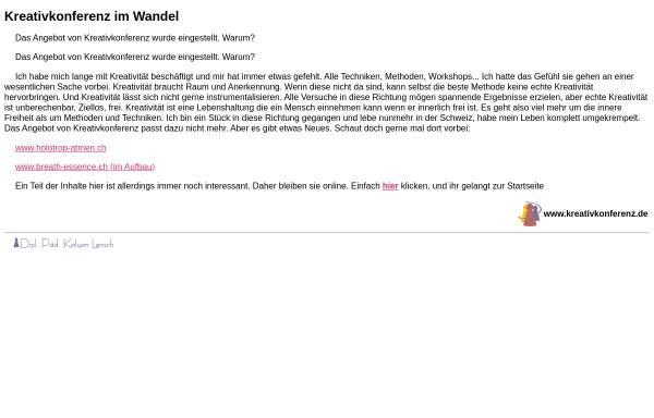 Vorschau von www.kreativkonferenz.de, Kreativkonferenz - Dipl. Päd. Dietrich Lensch