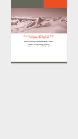 Vorschau der mobilen Webseite www.klinger-beratung.de, Organisationsberatung Klinger GmbH