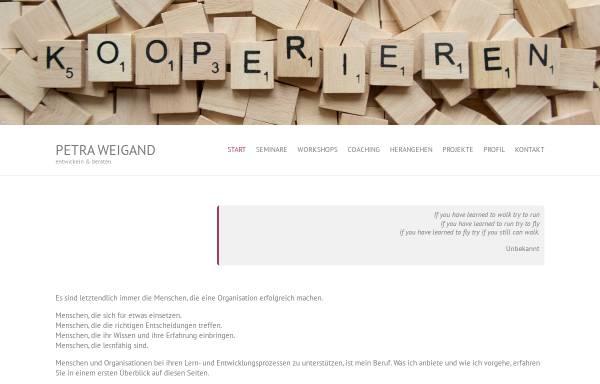 Vorschau von www.petraweigand.de, Petra Weigand - moderieren, entwickeln, beraten