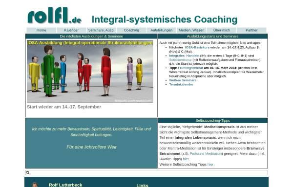 Vorschau von www.rolflutterbeck.de, Rolf Lutterbeck, Business Coach in Bad Homburg