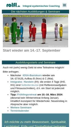 Vorschau der mobilen Webseite www.rolflutterbeck.de, Rolf Lutterbeck, Business Coach in Bad Homburg