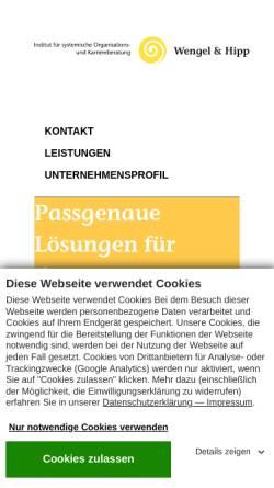 Vorschau der mobilen Webseite www.wengelundhipp.de, Wengel und Hipp