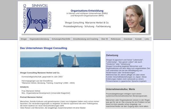 Vorschau von www.shogai.ch, Shogai Consulting Marianne Herbst und Co.