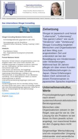 Vorschau der mobilen Webseite www.shogai.ch, Shogai Consulting Marianne Herbst und Co.