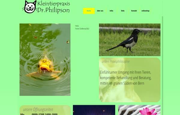 Vorschau von www.dr-philipson.ch, Kleintierpraxis Dr. Philipson, Bern